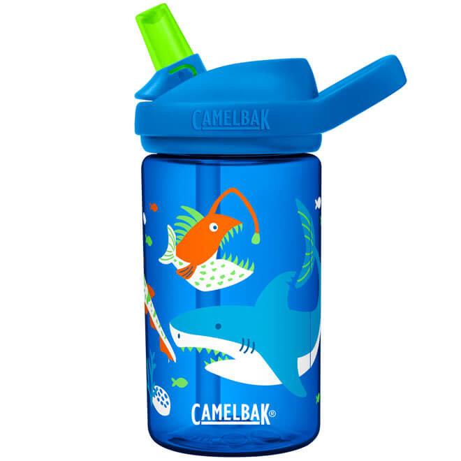 Drinkfles glow in the dark shark