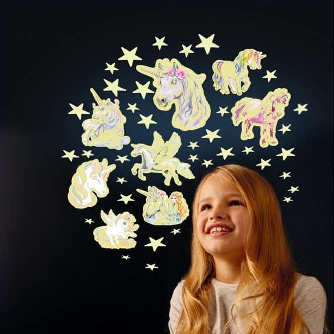 Glow in the dark sterren & unicorns