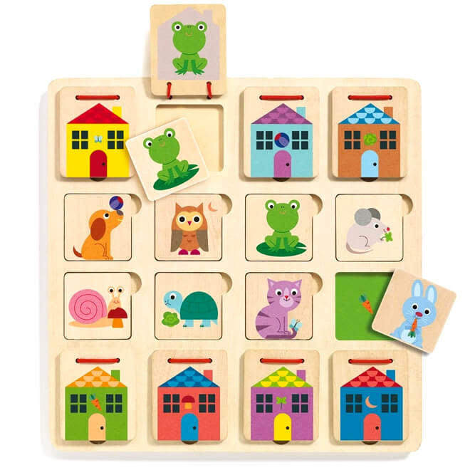 Houten puzzel verstoppertje Cabanimo 2+
