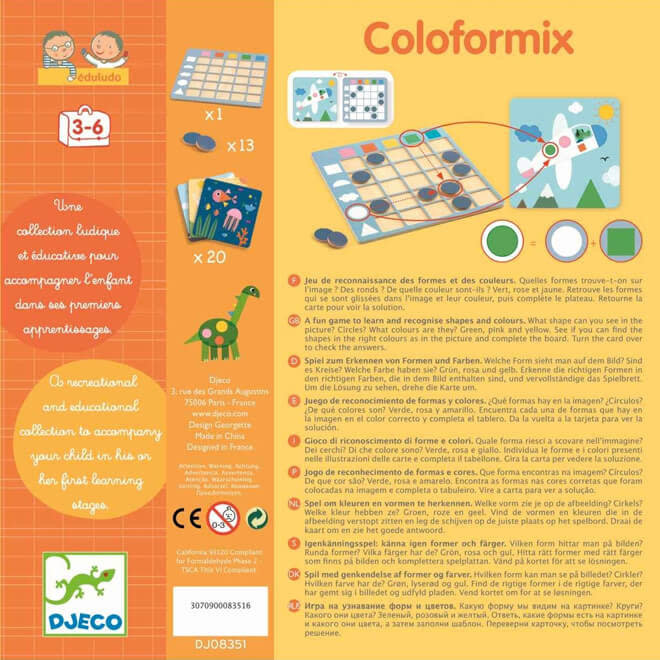 Djeco Kleuren en vormen spel 'Coloformix'
