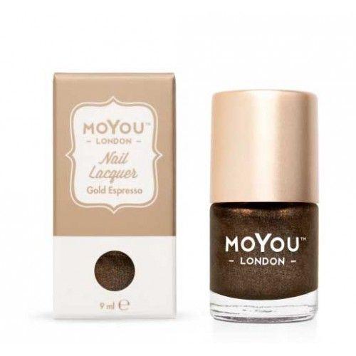 MoYou London MoYou Stempellak 9 ml Gold Espresso