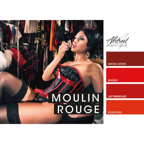 Abstract Abstract Brush n' Color Moulin Rouge collection