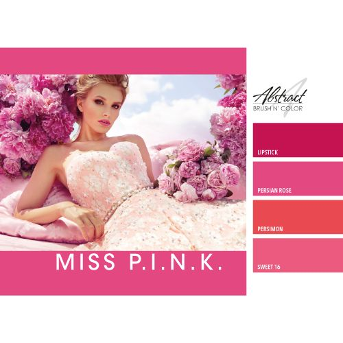 Abstract Brush N' Color collectie Miss Pink