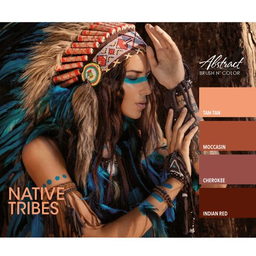 Abstract Abstract Brush n' Color Native Tribes collection