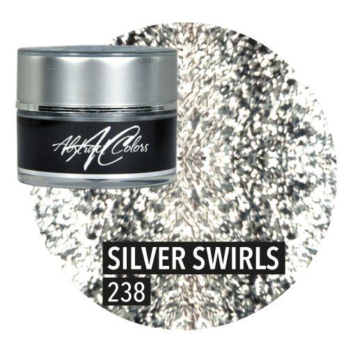 Abstract Abstract gel brillant 5 ml Silver Swirls CG238