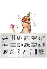 MoYou London MoYou Stamping Plate - Happy Birthday 02