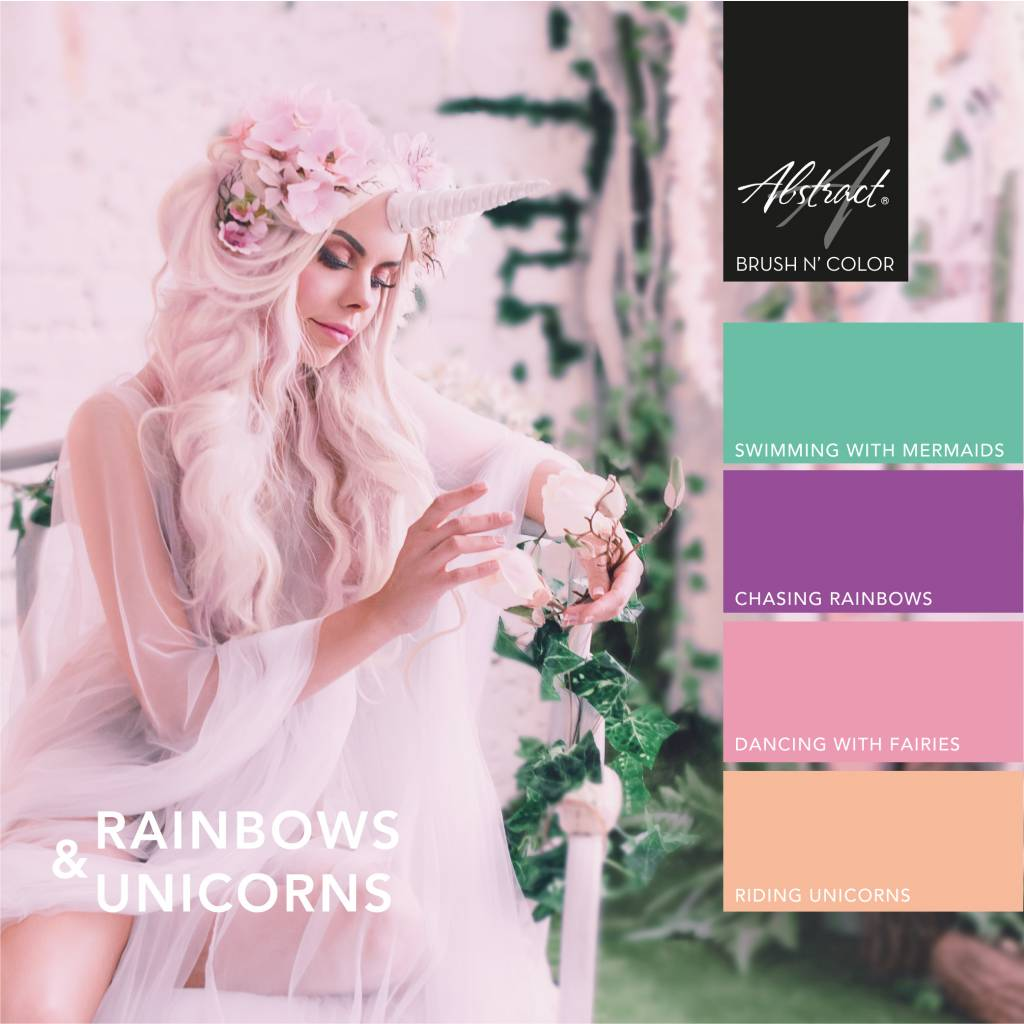 Abstract Brush N' Color 15 ml collectie Rainbows & Unicorns