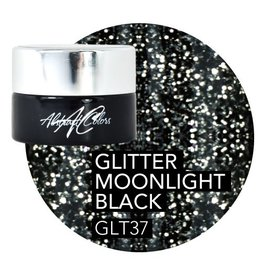 Abstract Abstract  gel de couleur 5 ml Glitter Moonlight Black GLT37