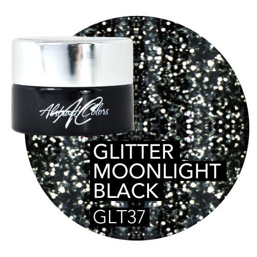 Abstract Abstract  gel de couleur 5 ml Glitter Moonlight Black GLT37