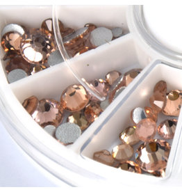 Abstract Premium rhinestone carrousel Peach Mix