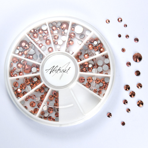 Abstract® Premium rhinestone carroussel Rose Gold Mix