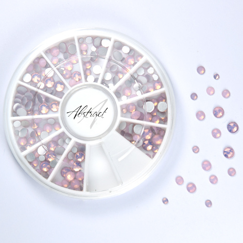 Abstract Premium rhinestone carroussel Opal Pink Mix