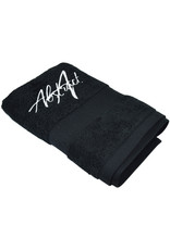 Abstract Towel Black  50 x 100 cm