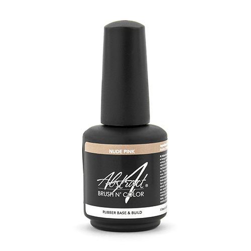 Abstract® Brush N' Color 15 ml Rubber Base & Build - Nude Pink