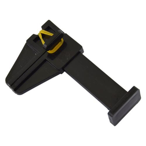 Abstract® Zwarte pinch clip acryl - 1 stuk