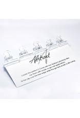 Abstract Transparante pinch clips gel -  5 stuks