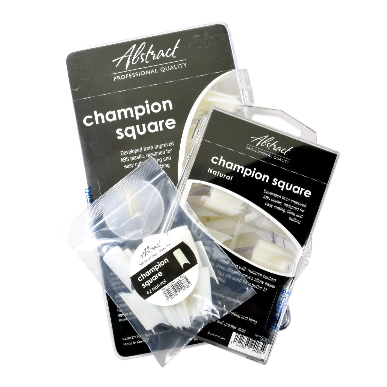 Abstract Champion square natural tips 500 stuks