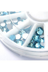 Abstract® Premium rhinestone carrousel Aqumarine mix