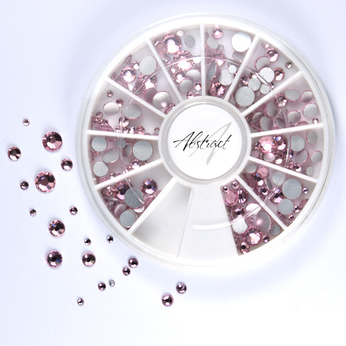 Abstract Premium rhinestone caroussel Light pink mix