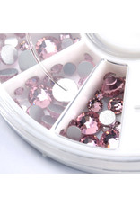 Abstract Premium rhinestone carrousel Light pink mix