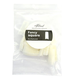 Abstract Fancy Square tips #4 refill natural 50 stuks