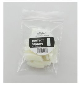 Abstract® Perfect Square tips #3 refill natural 50 stuks