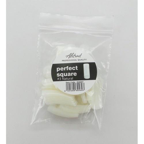 Abstract Perfect Square tips #3 refill natural 50 stuks