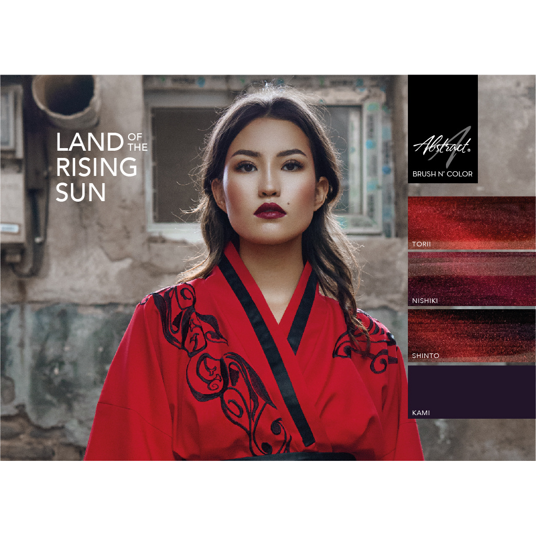 Abstract Brush N' Color collectie Land Of The Rising Sun