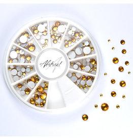 Abstract® Premium rhinestone carrousel Light Topaz Mix