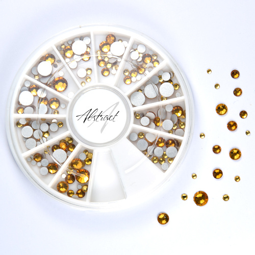 Abstract Copy of Premium rhinestones carroussel Topaz Mix
