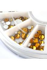 Abstract Premium rhinestone carroussel Light Topaz Mix