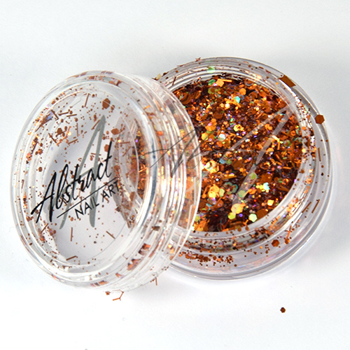 Abstract Glitter Mix AB Copper