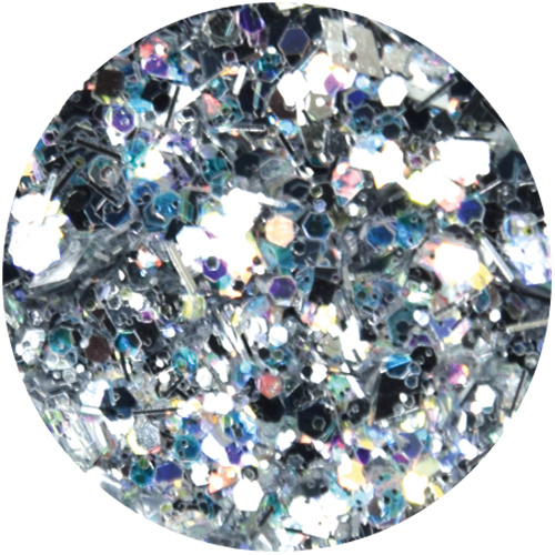 Abstract Glitter Mix AB Silver