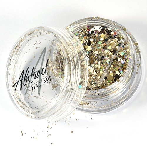 Abstract Copy of Glitter Mix AB Silver