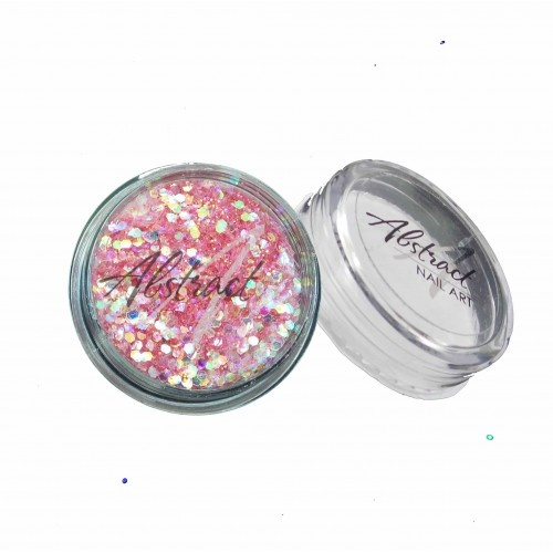 Abstract Glitter Multimix Pastel Baby Pink