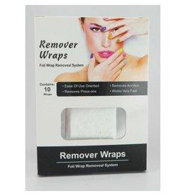 Abstract Soak Off Remover wraps 10 stuks