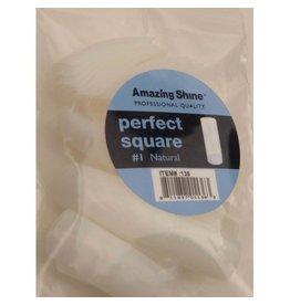 Abstract® Perfect Square tips #1 refill naturel 50 stuks