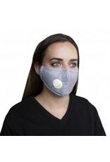 Abstract Vogmask mondmasker grijs