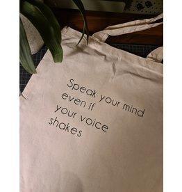 "Tote bag ""speak your mind"""