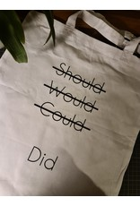 """Tote bag """"Should would could"""""""