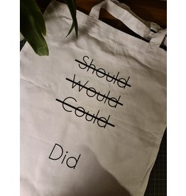 "Tote bag ""Should would could"""