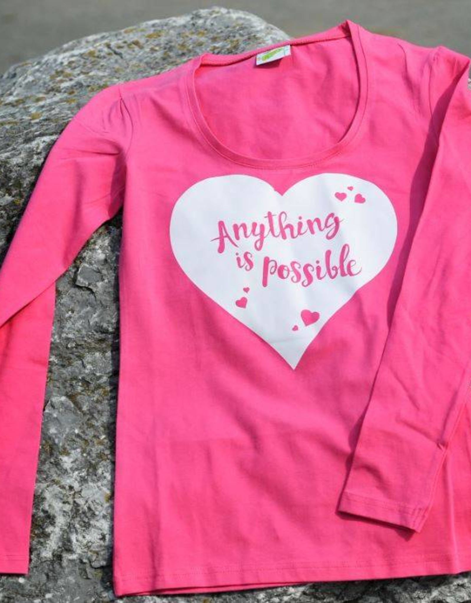 HVP Longsleeve Anything is possible - Roze