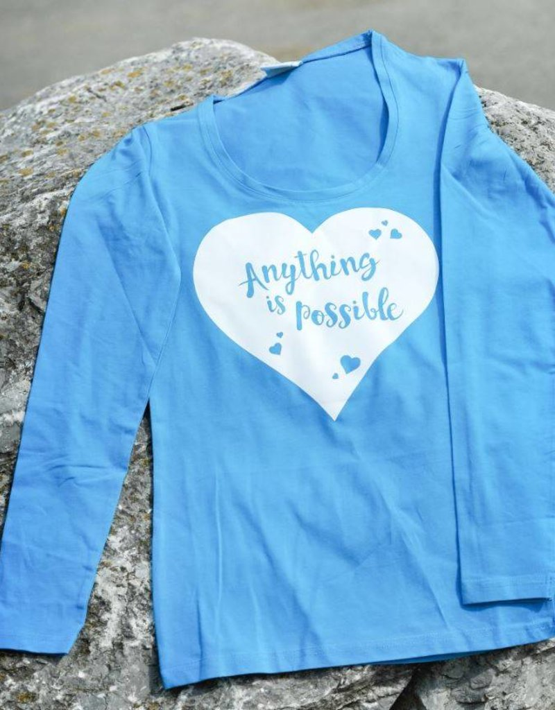 HVP Longsleeve Anything is possible - licht blauw