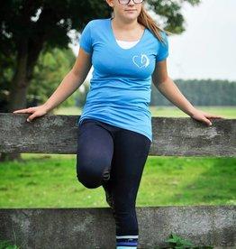 HVP t-shirt Hart voor Paarden hart - lichtblauw