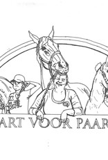 Hart voor Paarden Kleurplaat  met Tessa, Kim & Rebecca