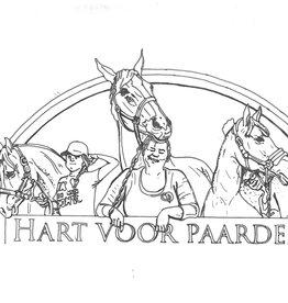 Hart voor Paarden Kleurplaat HvP