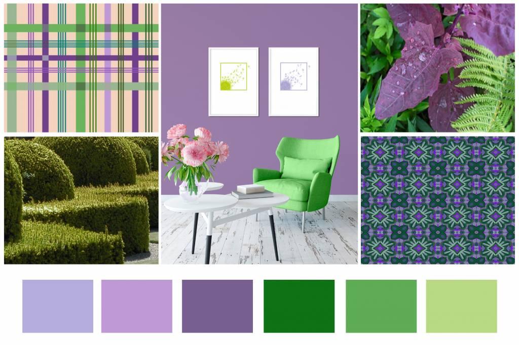 Color Combination: Violet & Lime - Violet & Lime