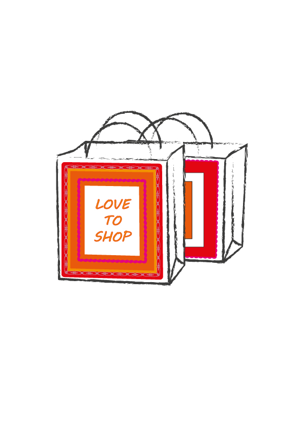 Love to Shop bag design 3