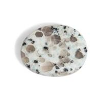 Jaspis kiwi | Mintgroene en grijze tinten | Gepolijst