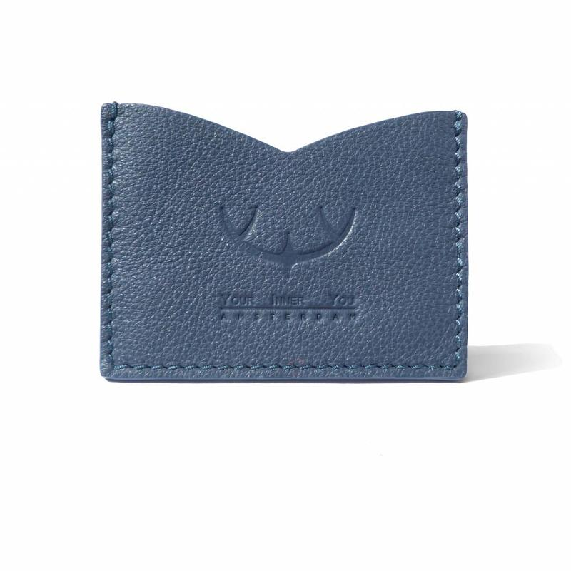 SPLASH| Leather Card Holder | Storm Blue